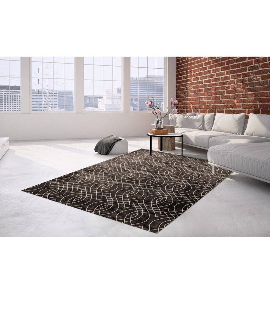 Sateen 100 beige & brown rug 200x290cm Sale - pierre cardin