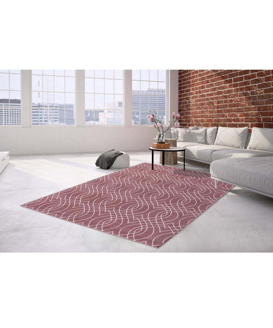 Sateen 100 pink rug 200x290cm Sale - pierre cardin