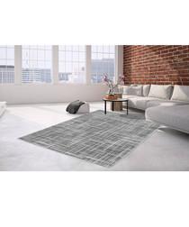 Sateen 200 silver rug 200x290cm