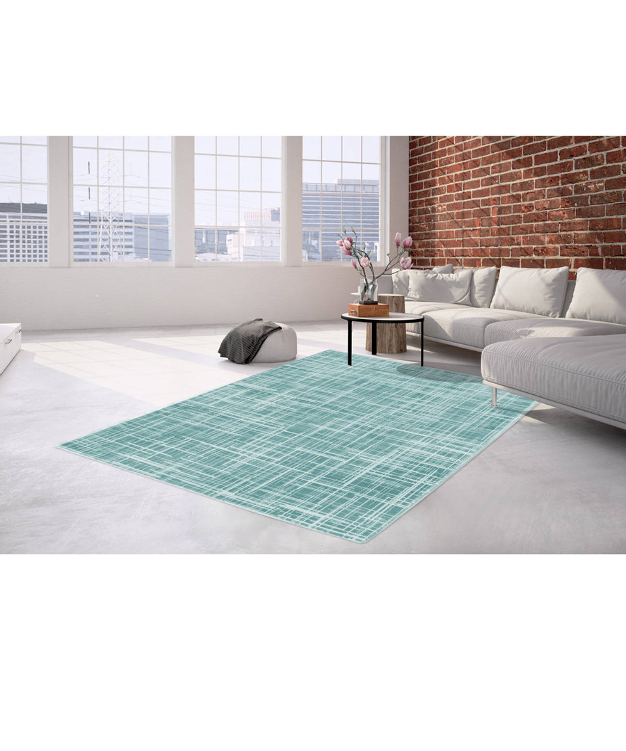 Sateen 200 turquoise rug 200x290cm Sale - pierre cardin