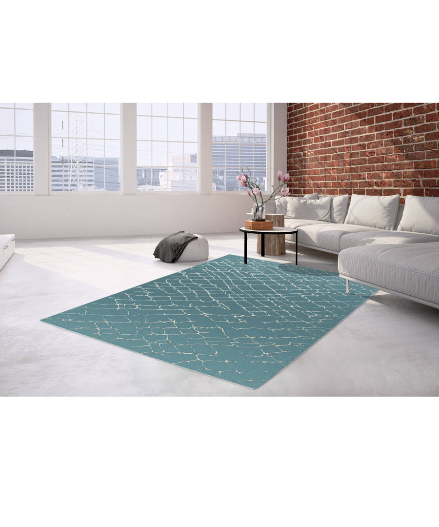Sateen 400 turquoise rug 200x290cm Sale - pierre cardin