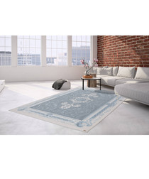 Diyez 100 ivory & blue rug 160x230cm