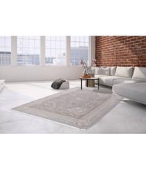 Diyez 100 silver & taupe rug 160x230cm