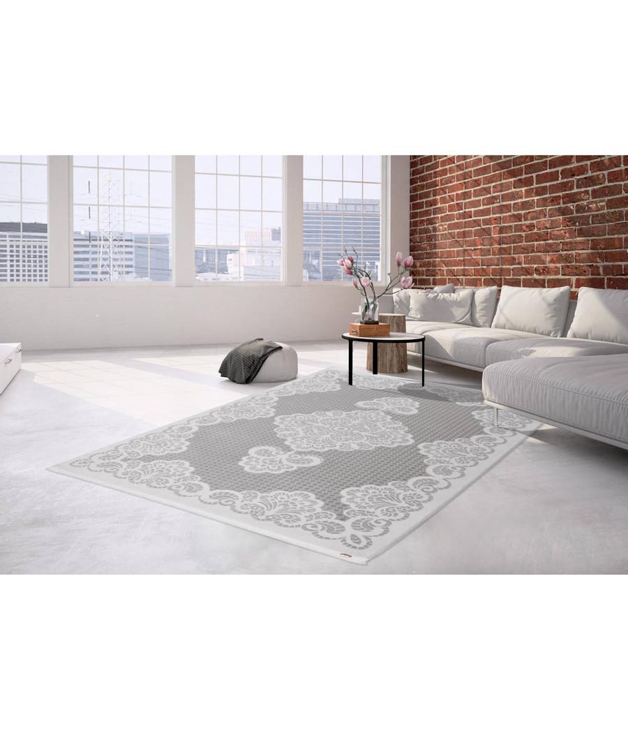 Saloon 200 silver rug 160x230cm Sale - pierre cardin