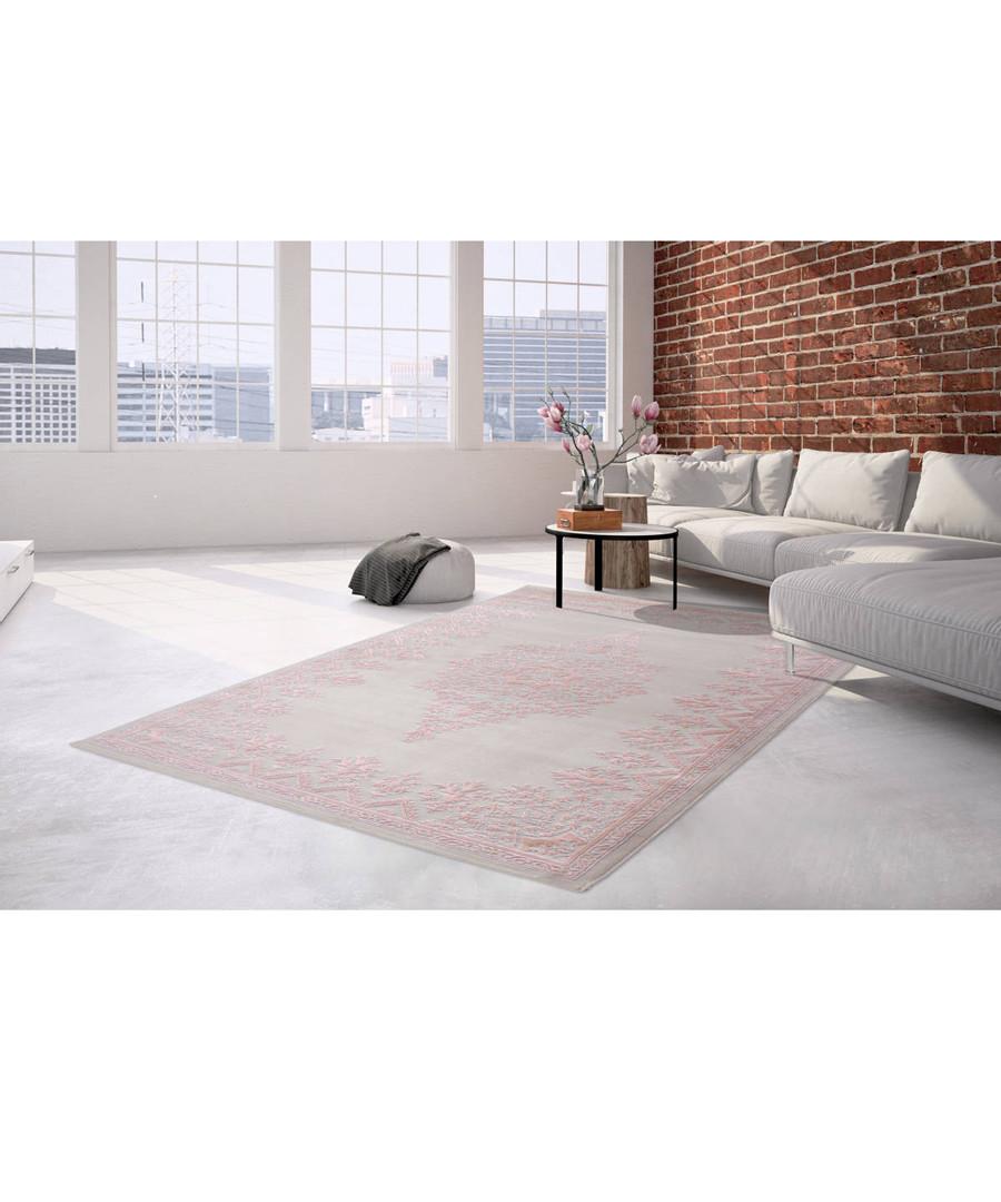 Palast 100 silver & pink rug 80x300cm Sale - pierre cardin