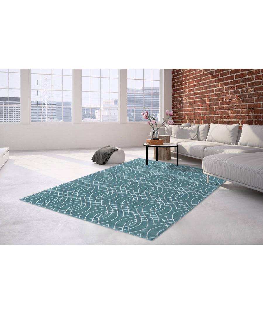 Sateen 100 turquoise rug 160x230cm Sale - pierre cardin