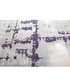 Borneo 100 silver & violet rug 80x300cm Sale - pierre cardin Sale