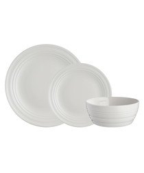 12pc cream dinner set