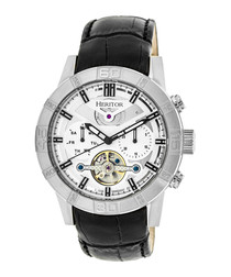 Hamilton black leather watch