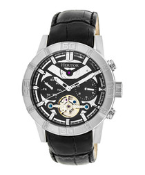 Hamilton black leather watch