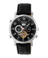 Edmond black & silver-tone leather watch Sale - heritor automatic Sale