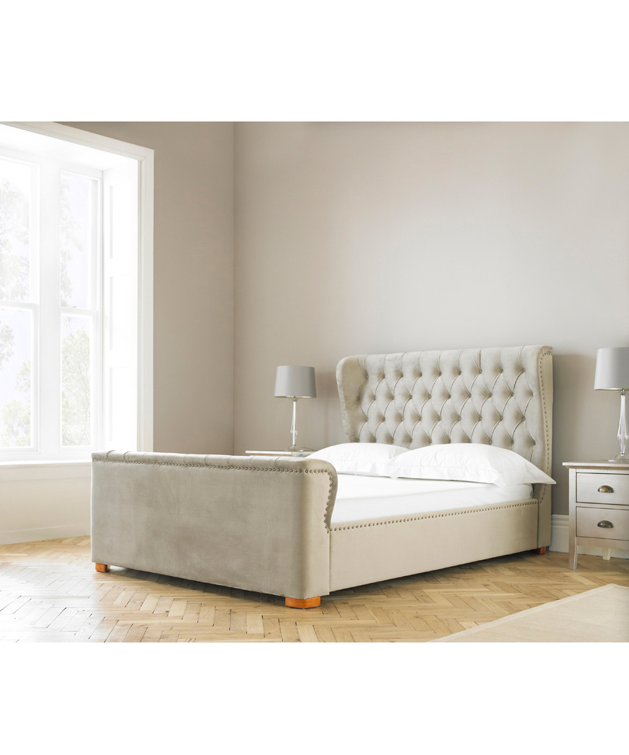 Discount Grey swan style king size bed frame | SECRETSALES