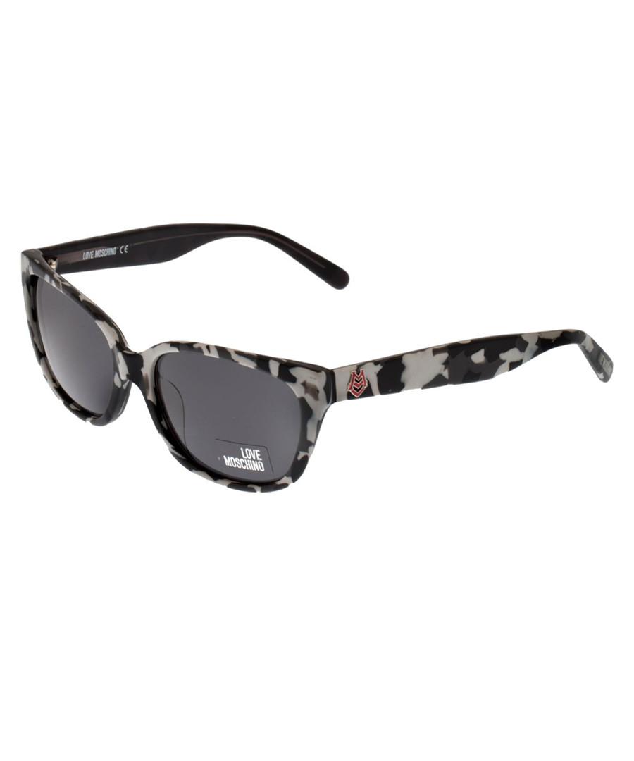 Black & grey camo pattern sunglasses Sale - moschino love