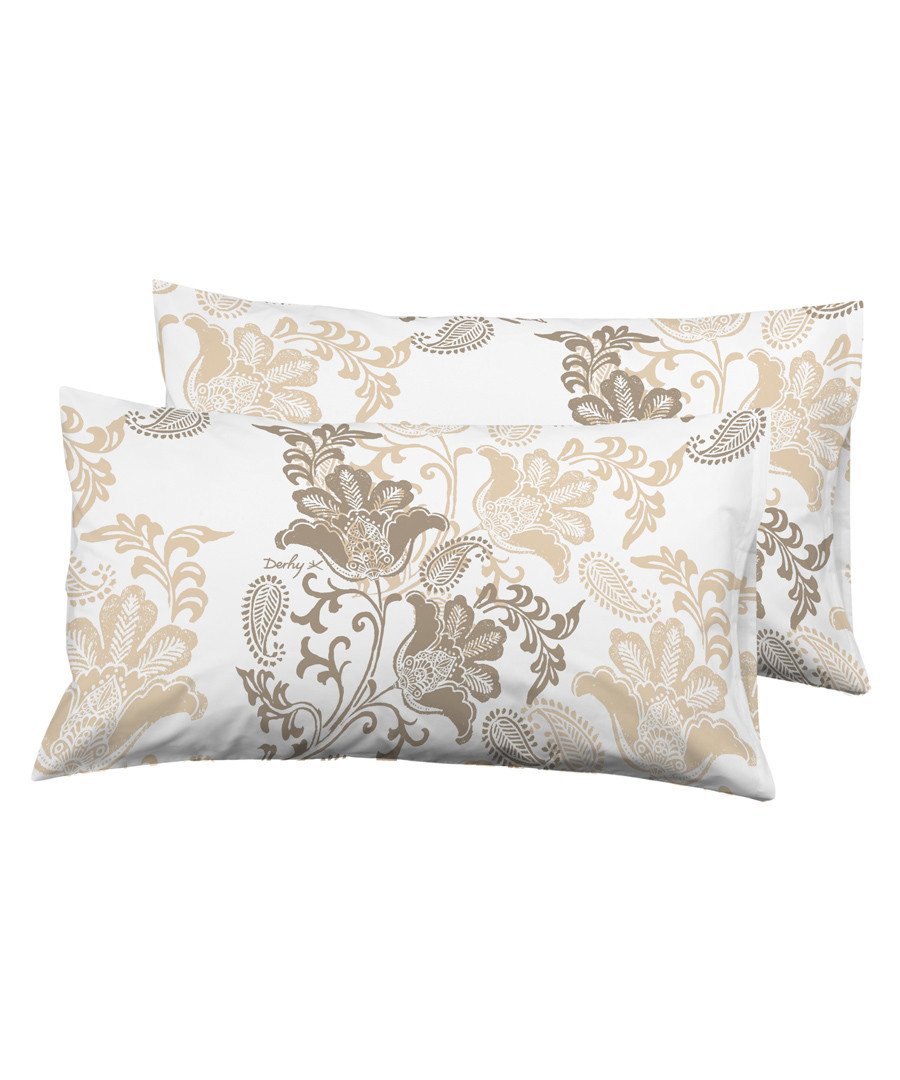 2pc taupe pure cotton cushion Sale - Derhy