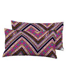 2pc multi-colour pure cotton cushion