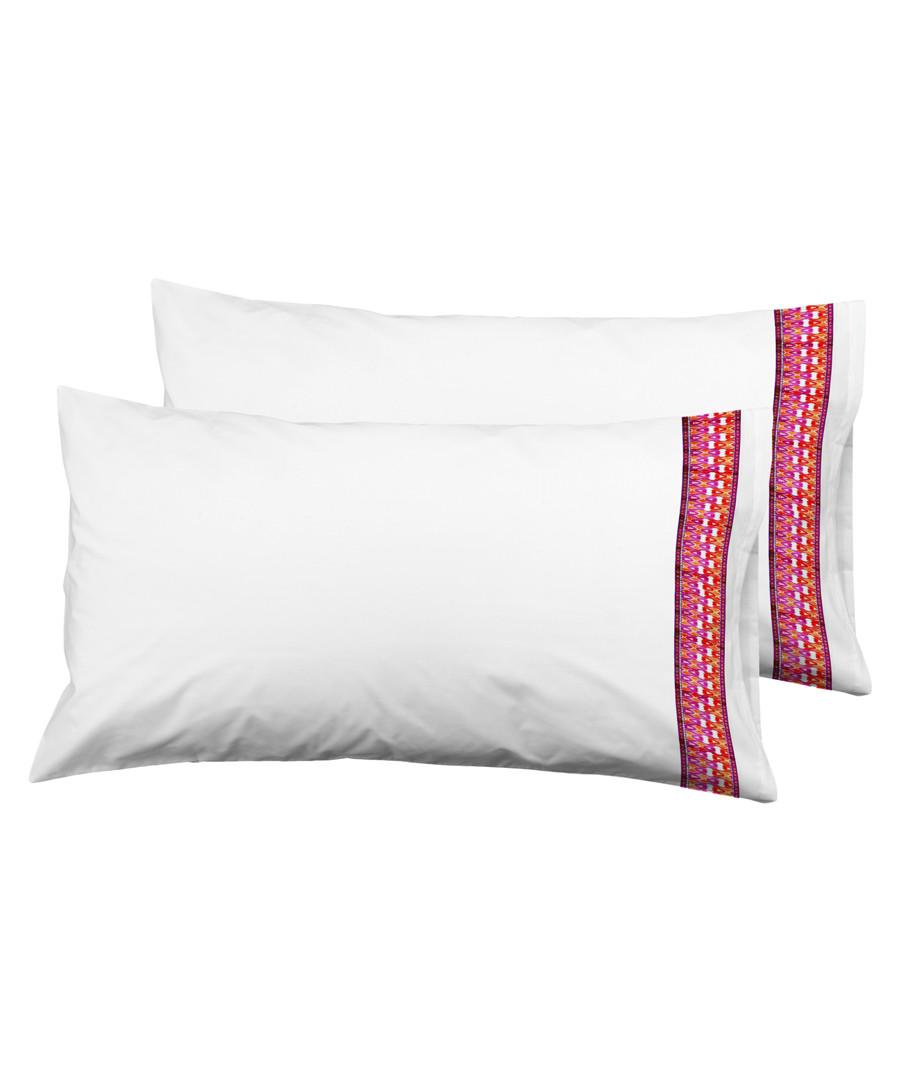 2pc white & red pure cotton cushion Sale - Derhy