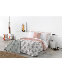 Pink pure cotton single duvet cover