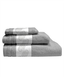 3pc grey pure cotton towels