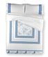 White & blue pure cotton d.duvet cover Sale - Derhy Sale