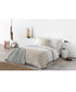 Taupe pure cotton double duvet cover Sale - Derhy Sale