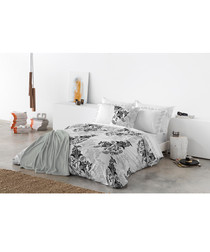 Black pure cotton king duvet cover