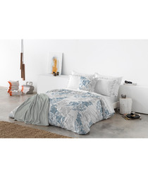 Blue pure cotton s.king duvet cover