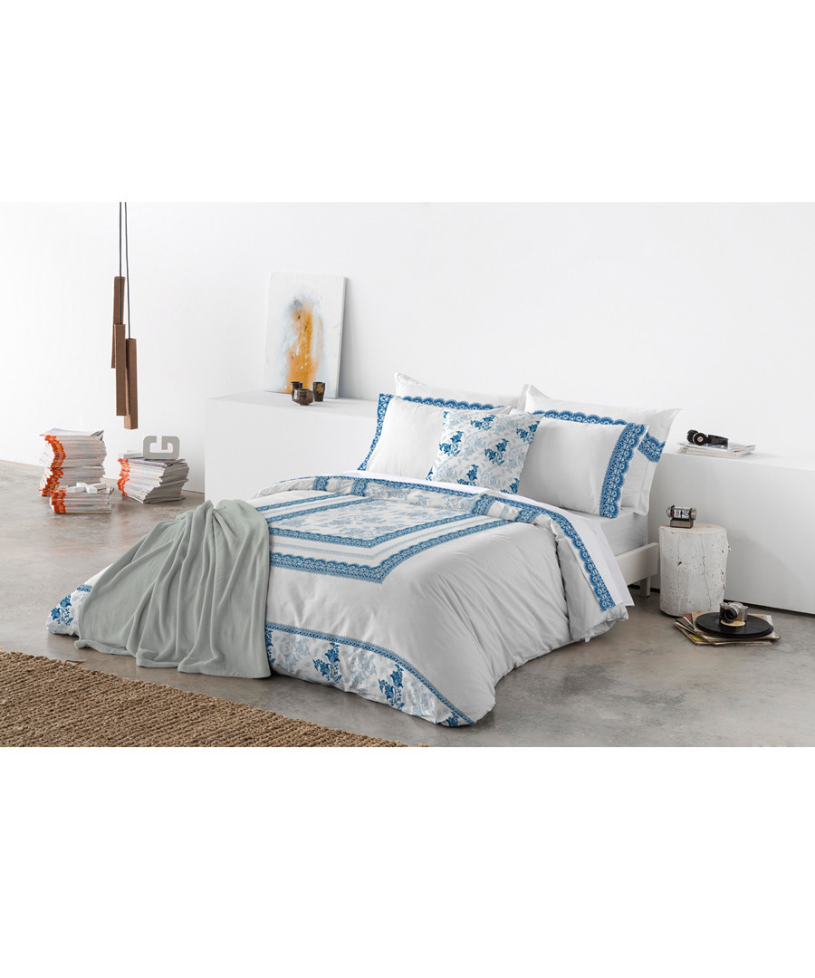 Blue pure cotton s.king duvet cover Sale - Derhy