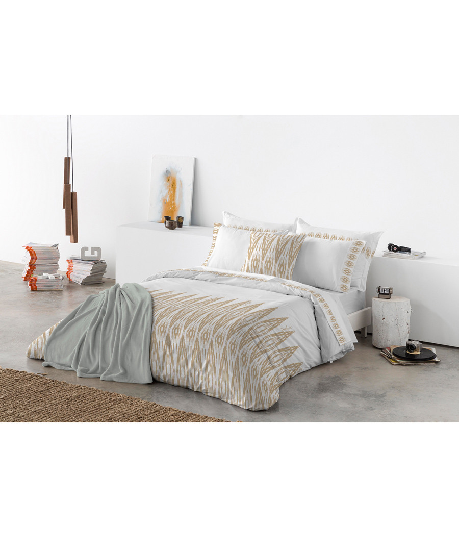 Taupe pure cotton s.king duvet cover Sale - Derhy