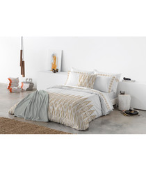 Taupe pure cotton s.king duvet cover