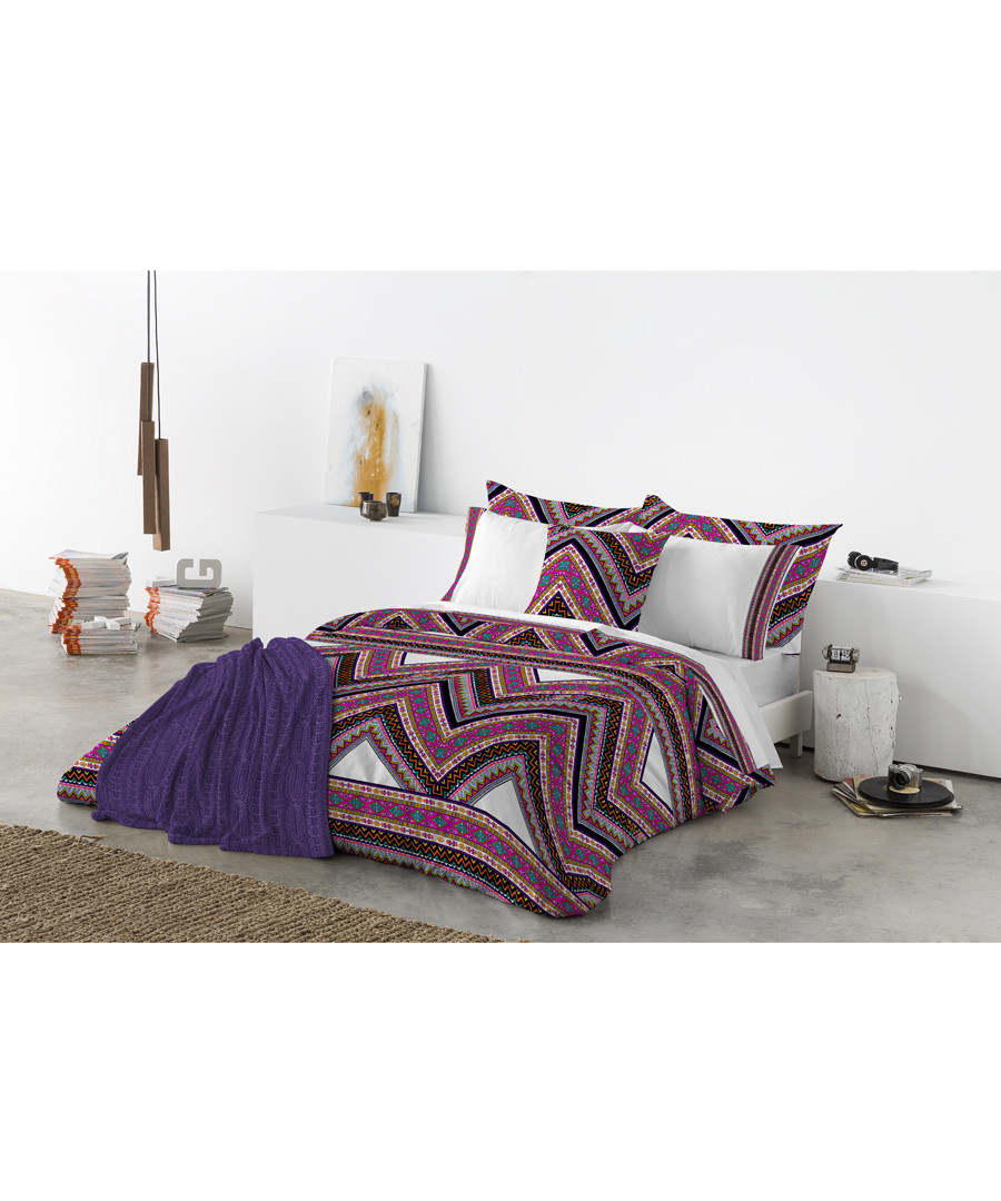 Purple pure cotton s.king duvet cover Sale - Derhy