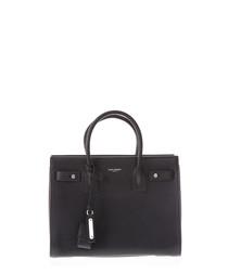 Sac de Jour nero leather shopper bag
