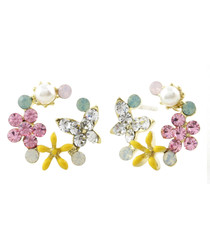 Garden Therapy 14ct gold-plated earrings
