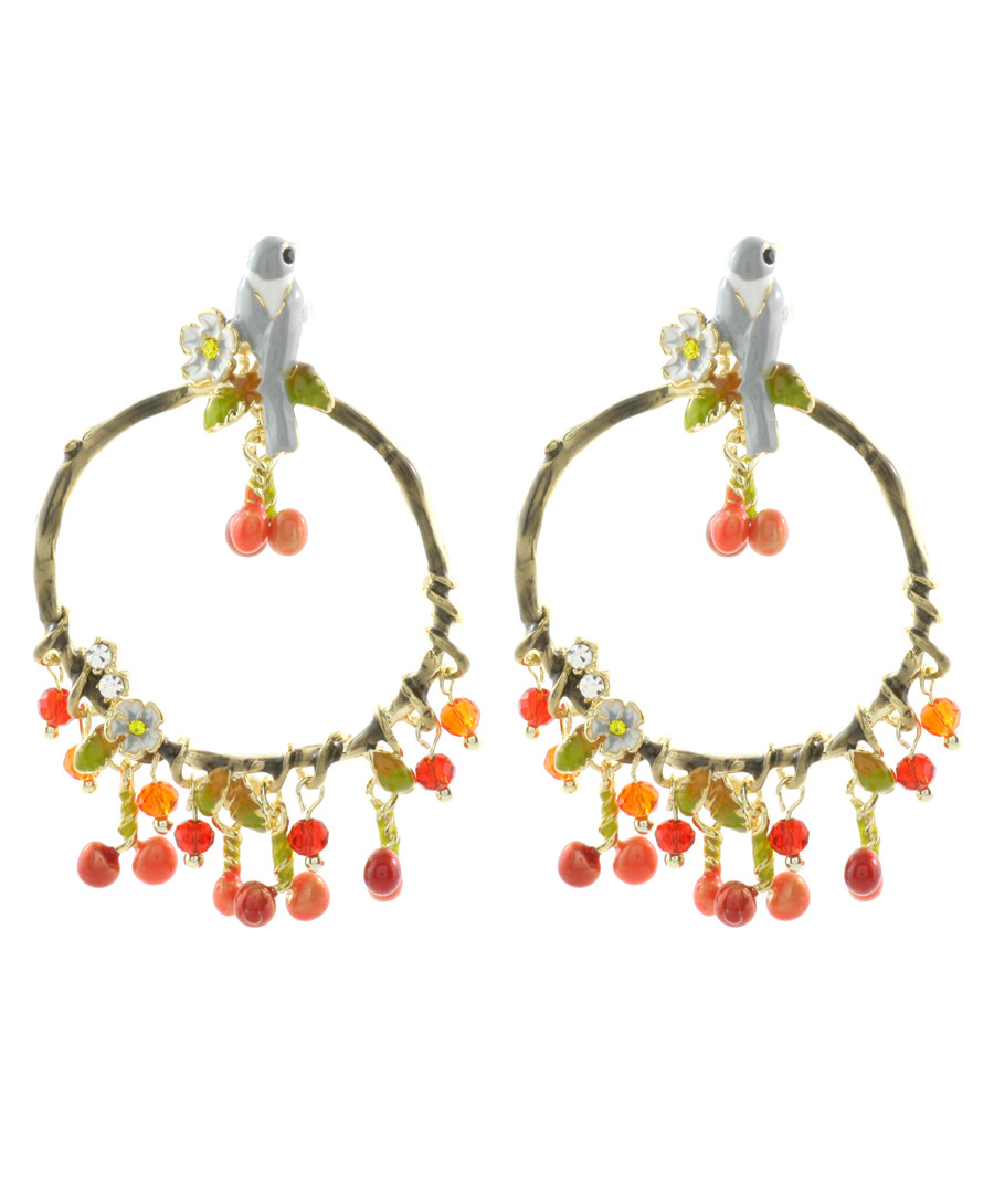 Berry Wren 14ct gold-plated earrings Sale - fleur envy