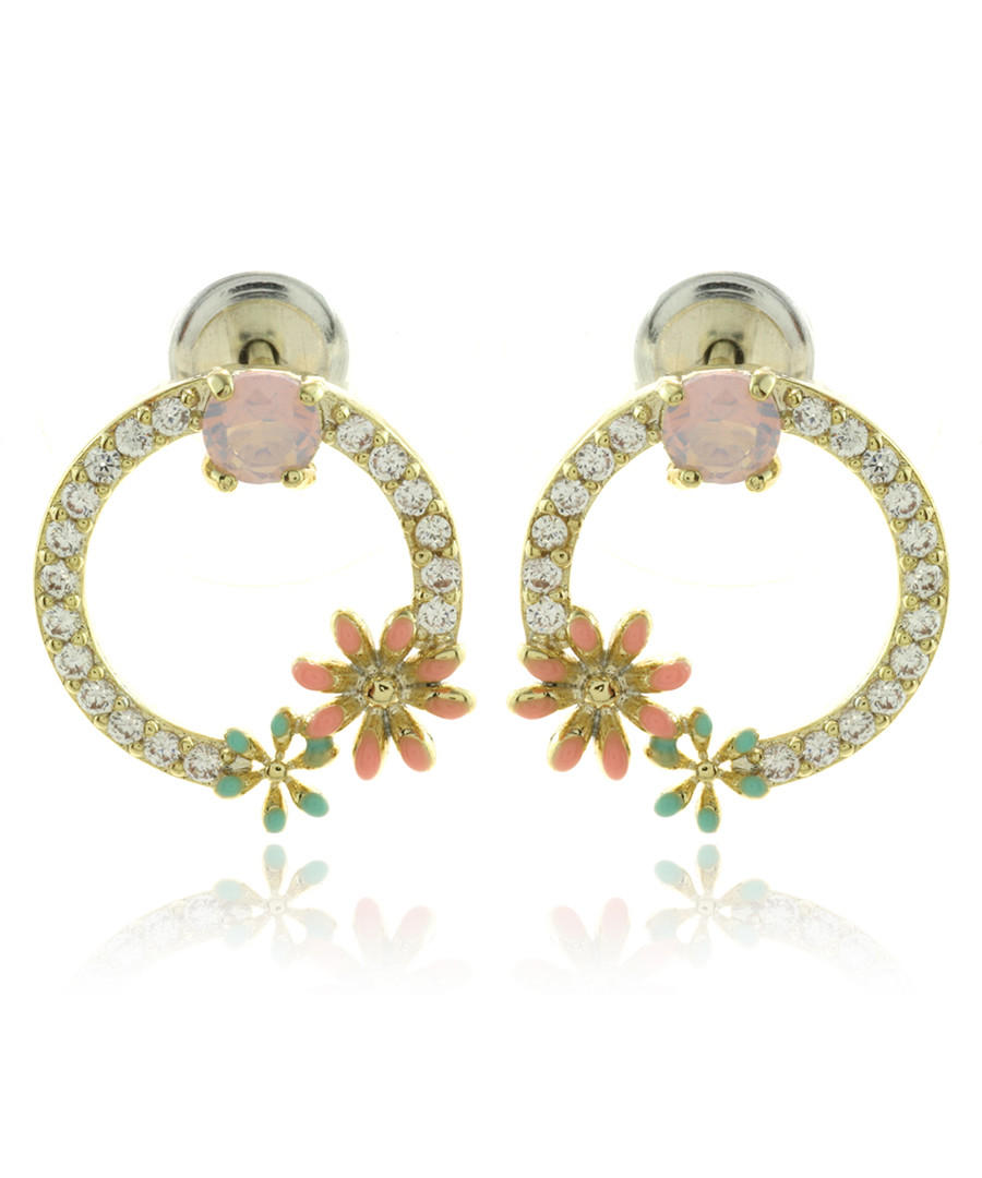 Floral Pleasures gold-plated earrings Sale - fleur envy