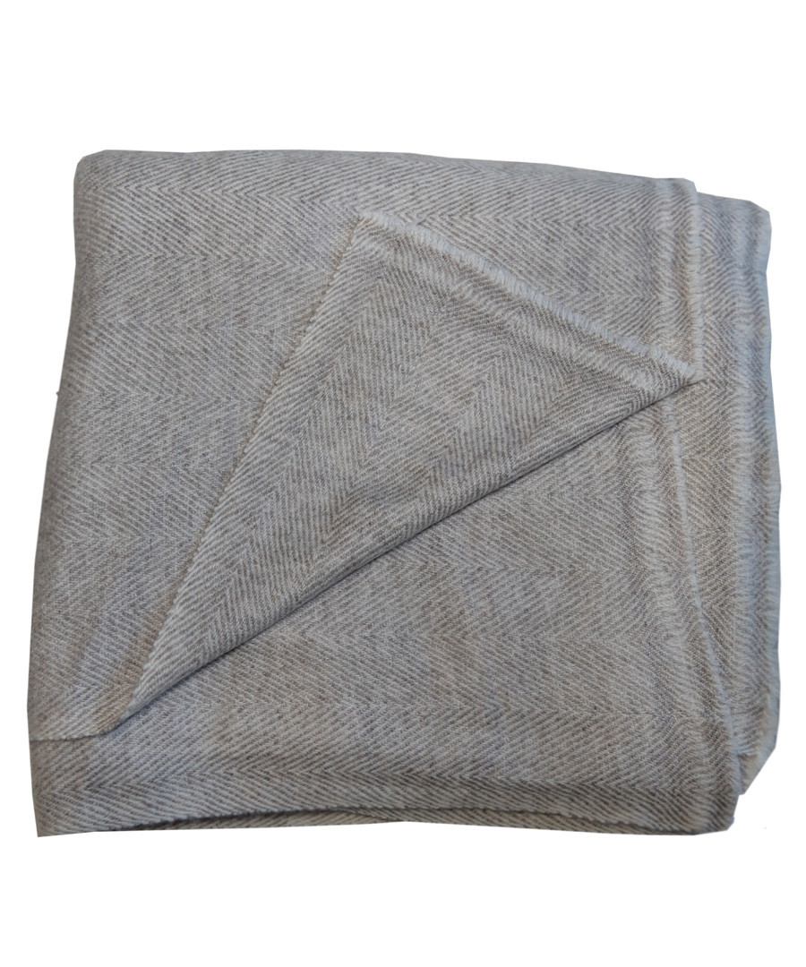Grey pure cashmere throw 135x255cm Sale - Panache Handicraft Ltd