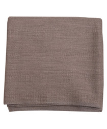 Mink cashmere arrow throw