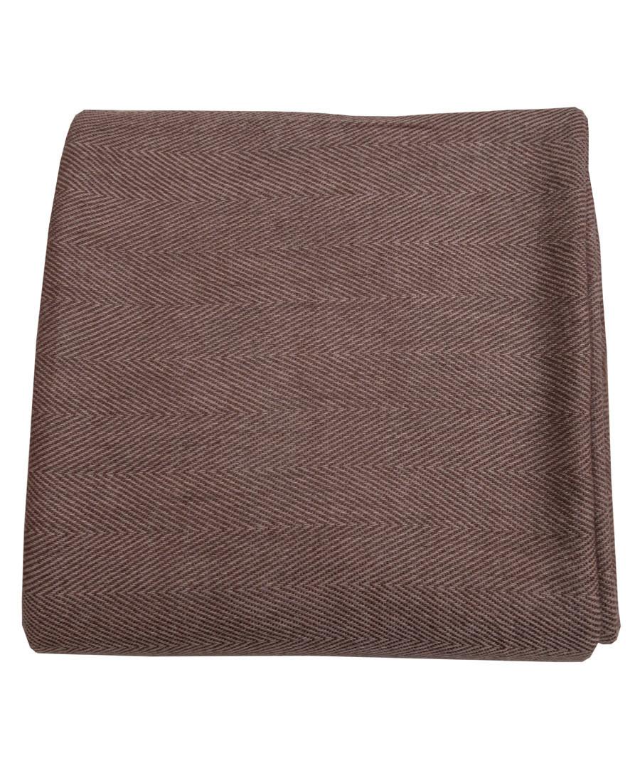 Brown pure cashmere throw 135x255cm Sale - Panache Handicraft Ltd