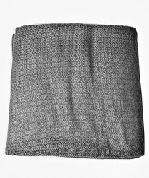 Dark grey cashmere pearl throw