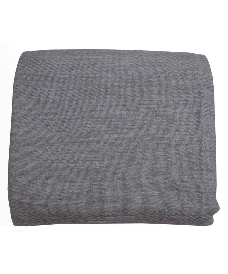 Blue & grey cashmere throw 135x255cm Sale - Panache Handicraft Ltd