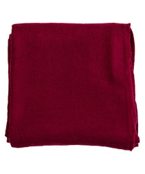 Burgundy cashmere plain throw