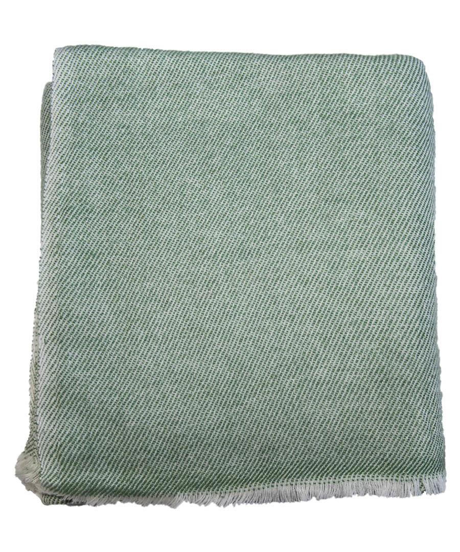 Olive pure cashmere throw 135x255cm Sale - panache handicraft