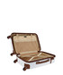 White with Brown accents spinner suitcase Sale - platinium Sale