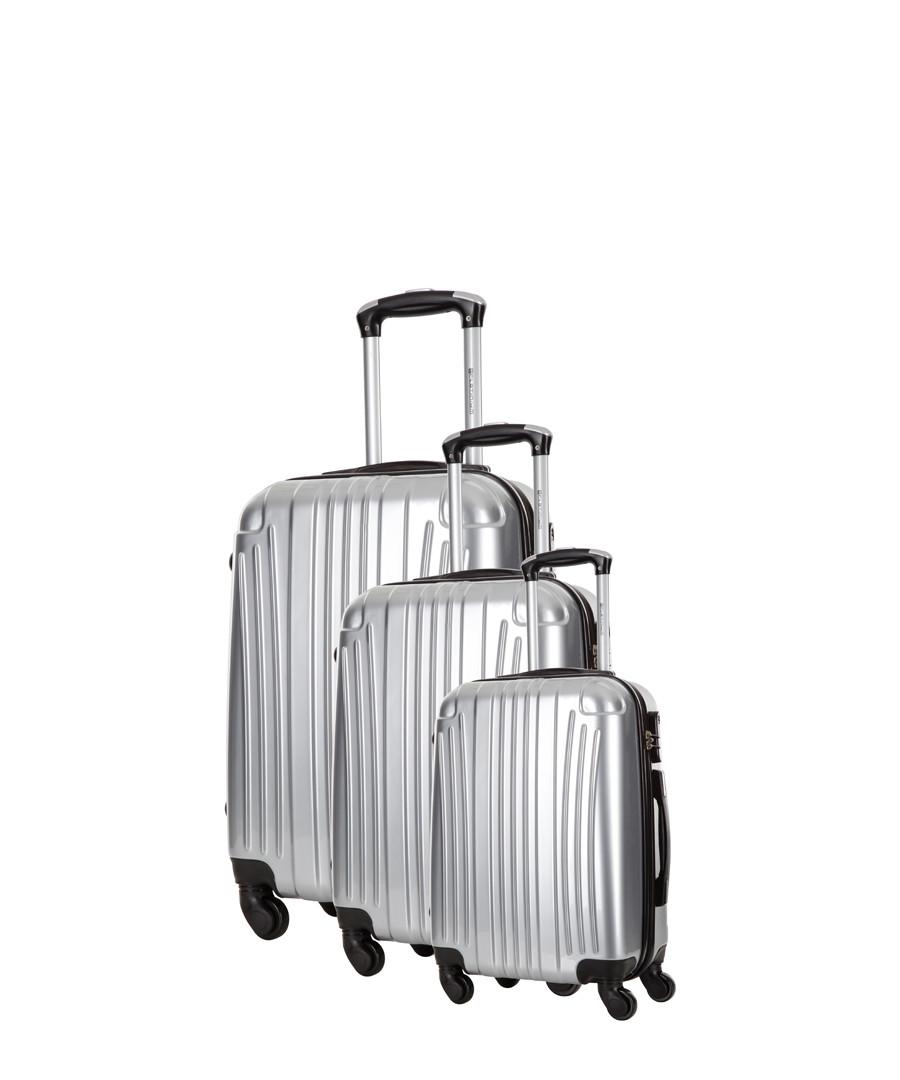 3pc Grimsby silver-tone suitcase nest Sale - platinium
