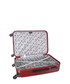Clarks 3pc red spinner suitcase nest Sale - platinium Sale