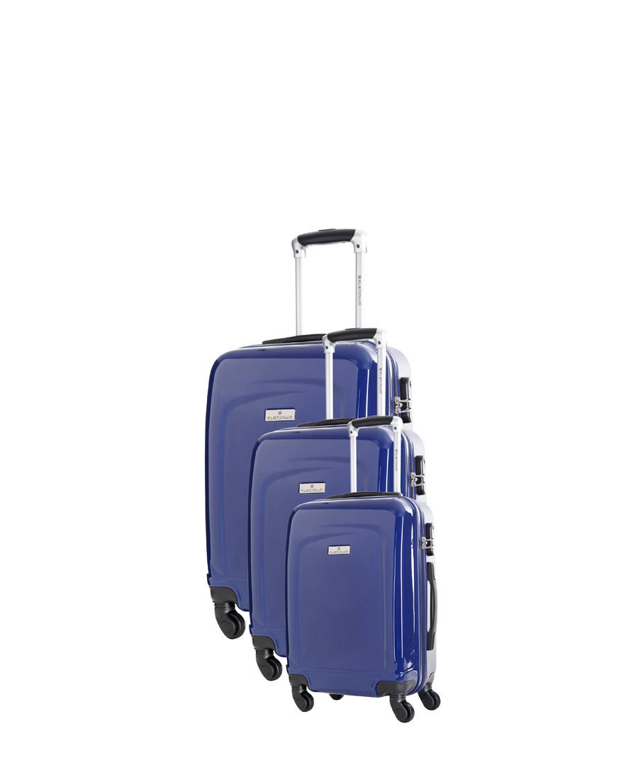 Clarks 3pc blue spinner suitcase nest Sale - platinium