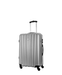 Akina silver spinner suitcase