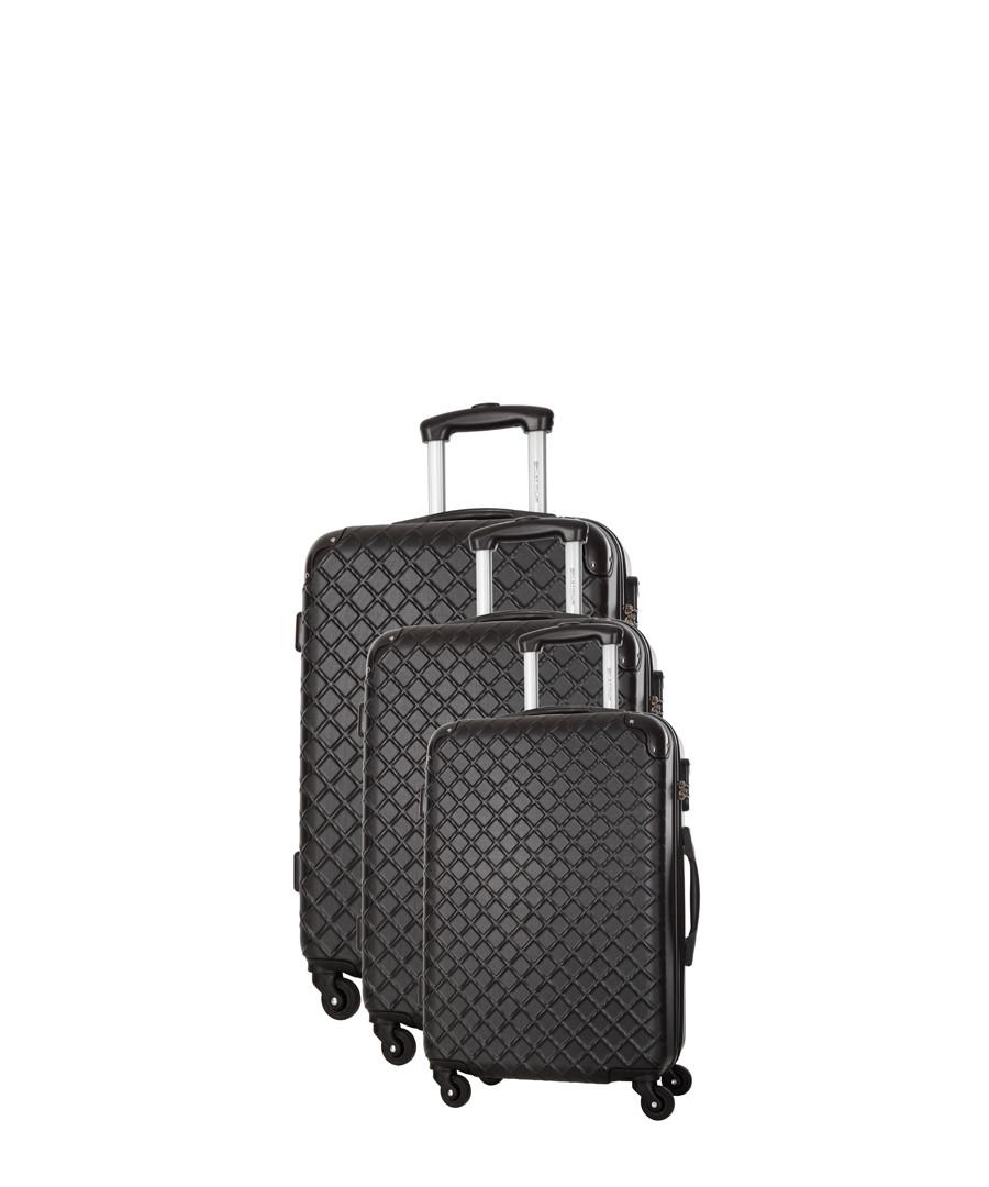 Sifnos 3pc black spinner suitcase nest Sale - platinium