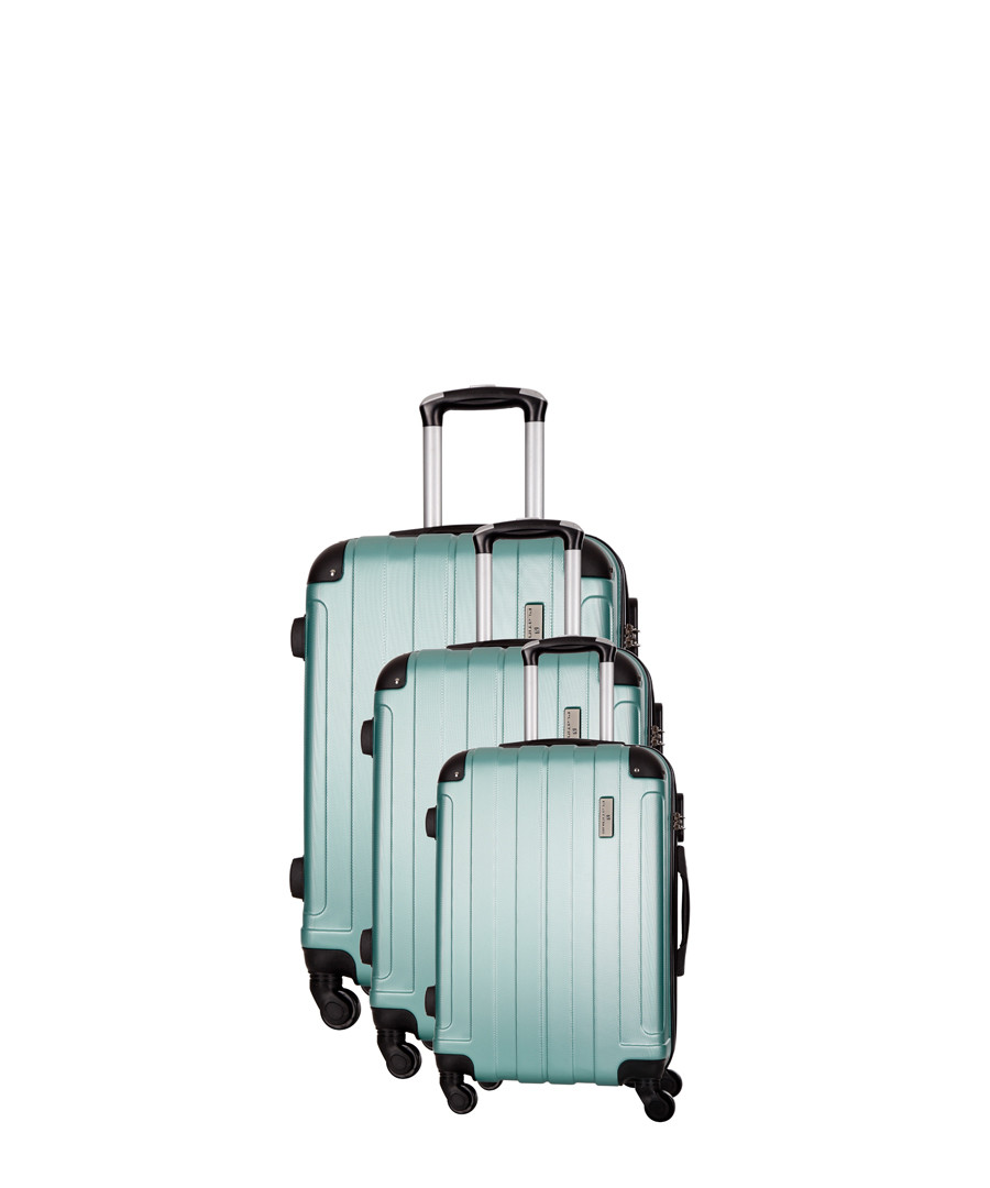 Delos 3pc green spinner suitcase nest Sale - platinium