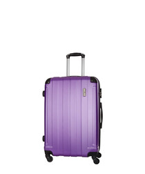 Delos purple spinner suitcase