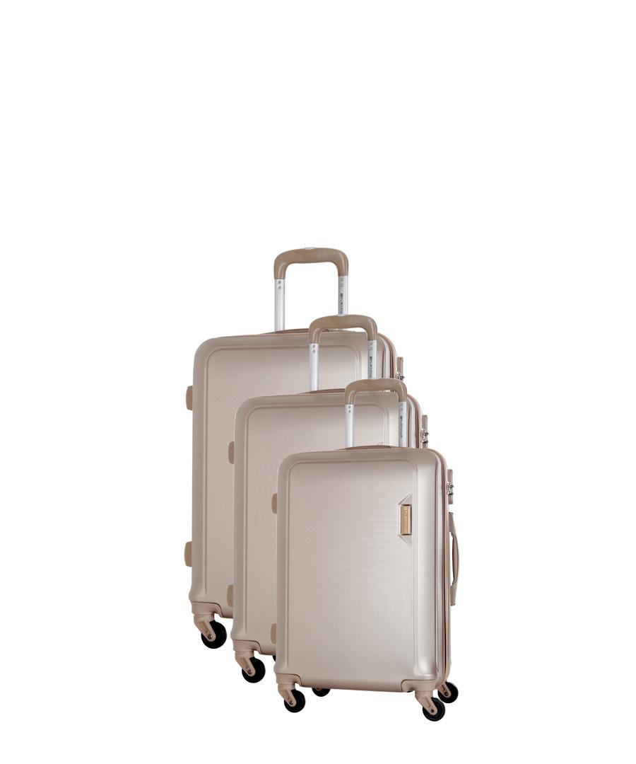 Buccia 3pc beige spinner suitcase nest Sale - platinium